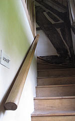 The easy grade stair to the main bedroom